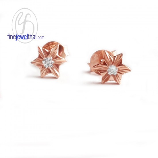 Pink-Gold-Diamond-Earring-finejewelthai-E1156pgp